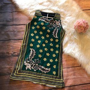Zara Trafaluc Floral Flower Print Summer Dress